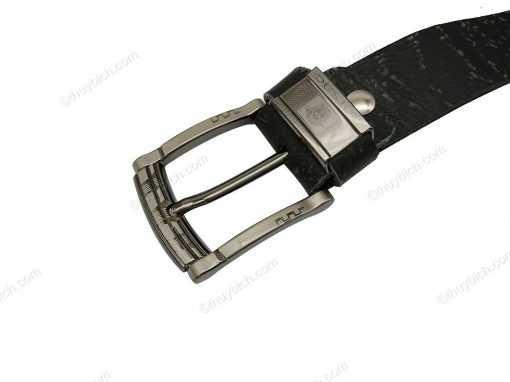 Dây lưng nam da cây dập chữ 100% DHM-027   Mặt lưng khóa kim cao cấp