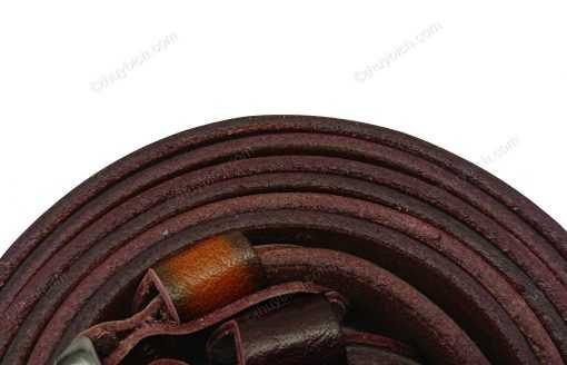 Dây nịch da bò dập chữ 100% DHM-033 | Khóa lưng kim nguyên khối nam tính