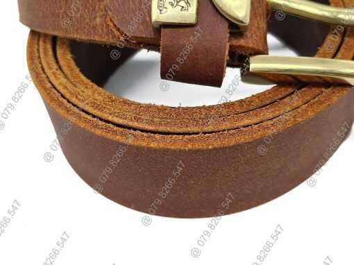 Dây nịch nam da sáp thật DHM-041 | Đầu khóa nịt kim nguyên khối cao cấp