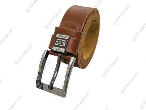 Dây nịt nam da dập chữ thật 100% DHM-048 | Mặt dây lưng khóa kim nguyên khối sang trọng