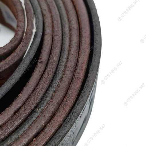 Thắt lưng nam da dập hình thật 100% DHM-049 | Mặt khóa kim nguyên khối mạnh mẽ