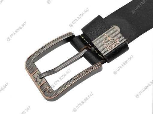 Thắt lưng nam da bò 100% DHM-060 | Đầu khóa kim nguyên khối mạnh mẽ