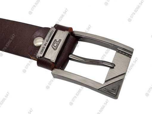 Thắt lưng da bò DHM-065 | Mặt thắt lưng khóa kim nguyên khối mạnh mẽ
