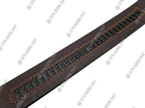 Dây lưng da bò cao cấp DHM-068 | Đầu khóa nịt tăng mạnh mẽ