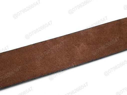 Dây lưng nam giả da cao cấp DHM-075 | Đầu khóa dây nịt kim nguyên khối nam tính