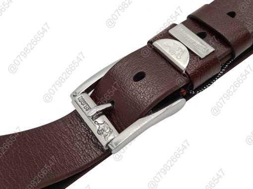 Dây lưng da thật nguyên tấm DHM-079 | Đầu dây nịt kim nguyên khối mạnh mẽ