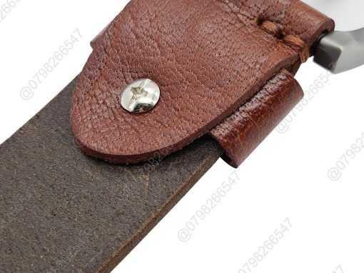 Dây lưng da thật 100% DHM-089 | Mặt thắt lưng khóa kim nguyên khối nam tính