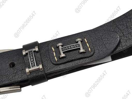 Dây lưng nam da bò cao cấp DHM-094 | Mặt lưng khóa kim nguyên khối mạnh mẽ