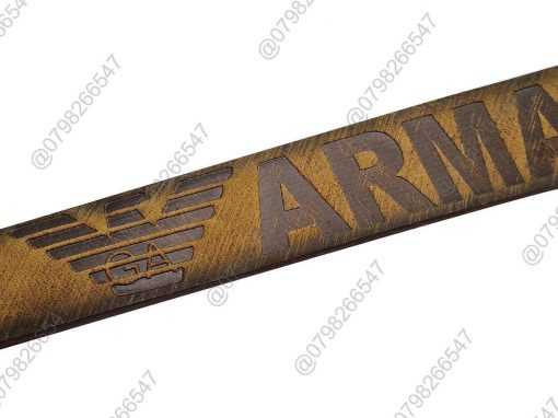 Thắt lưng nam da sáp 100% dập chữ DHM-101 | Đầu khóa kim nguyên khối sang trọng
