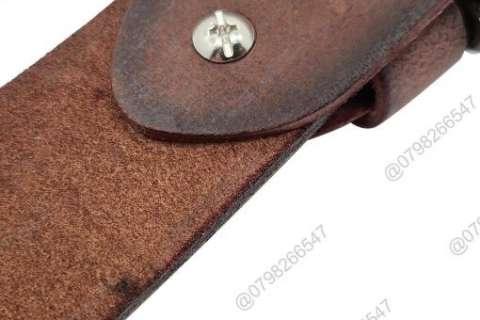Dây nịch nam da sáp thật DHM-103 | Đầu khóa dây nịt kim nguyên khối mạnh mẽ