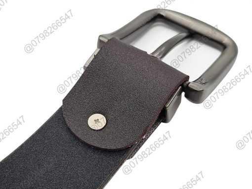 Thắt lưng nam giả da cao cấp DHM-105 | Mặt thắt lưng khóa kim nguyên khối mạnh mẽ