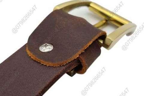 Dây nịt da sáp 100% DHM-107  Đầu khóa nịt kim nguyên khối thời trang