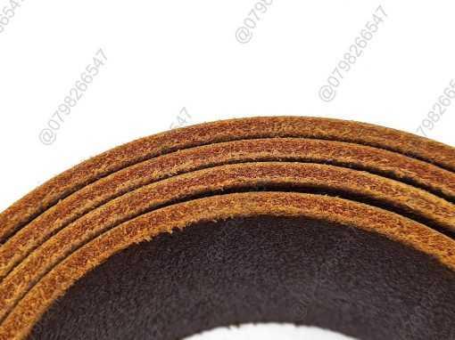 Dây nịt nam da bò sáp trơn thật DHM-120 | Khóa lưng kim nguyên khối sang trọng