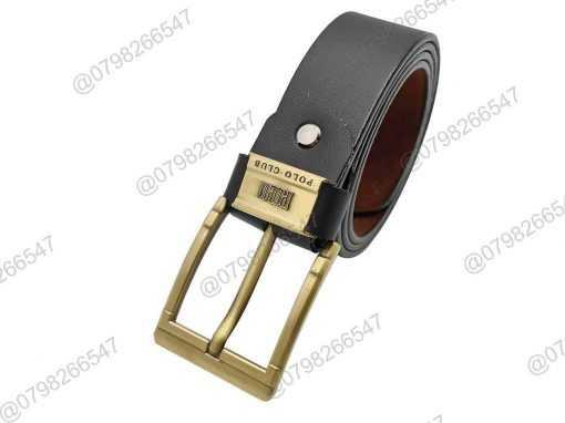 Dây lưng nam giả da cao cấp DHM-135 | Mặt khóa kim nguyên khối thời trang