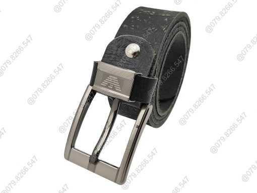Thắt lưng nam da bò trơn thật 100% DHM-138 | Đầu khóa dây nịt kim nguyên khối mạnh mẽ