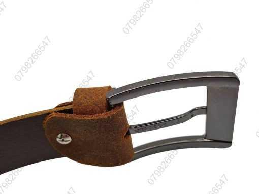 Thắt lưng nam da sáp cao cấp DHM-145 | Đầu khóa nịt kim nguyên khối mạnh mẽ