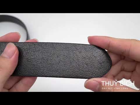 Dây lưng da bò DHM-063   Đầu dây nịt kim nguyên khối nam tính