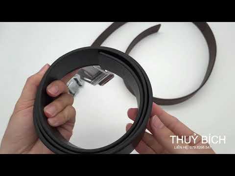 Thắt lưng nam da thật 100% DHM-091 | Đầu dây nịt lăn nam tính