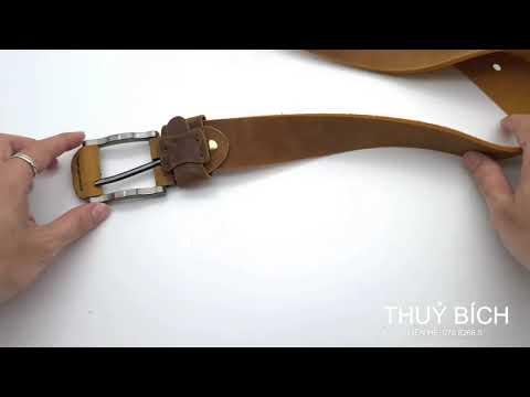 Dây nịt da sáp thật 100% DHM-045 | Đầu dây nịt kim nguyên khối mạnh mẽ