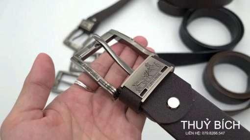 Dây nịch giả da cao cấp DHM-076 | Đầu dây nịt kim nguyên khối sang trọng