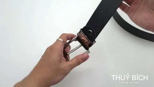 Dây nịt nam giả da cao cấp DHM-085 | Đầu dây nịt kim nguyên khối sang trọng