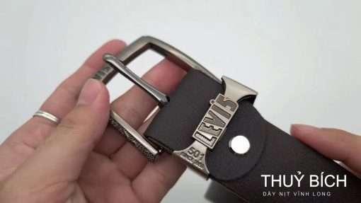 Thắt lưng nam da pu cao cấp DHM-100   Đầu khóa kim nguyên khối mạnh mẽ
