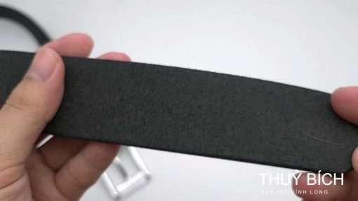 Dây nịch nam da bò trơn DHM-125 | Đầu khóa nịt kim nguyên khối nam tính