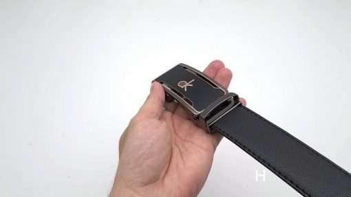 Dây nịt nam giả da cao cấp DHM-136 | Đầu khóa tăng nguyên khối sang trọng