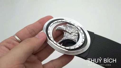 Thắt lưng giả da cao cấp DHM-156   Mặt thắt lưng khóa búp nguyên khối mạnh mẽ