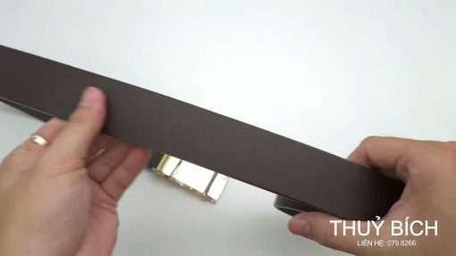 Dây lưng da cao cấp DHM-163 | Đầu khóa lăn nguyên khối mạnh mẽ