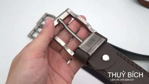 Dây lưng da pu cao cấp DHM-168 | Đầu khóa nịt kim nguyên khối nam tính