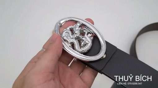 Thắt lưng giả da cao cấp DHM-181 | Đầu khóa dây nịt búp nguyên khối thời trang