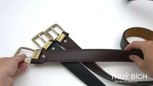 Thắt lưng da pu cao cấp DHM-196 | Khóa lưng kim nguyên khối sang trọng