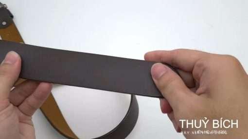 Dây lưng da pu cao cấp DHM-194 | Đầu dây nịt kim nguyên khối nam tính