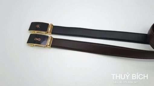 Dây nịt nam da pu cao cấp DHM-199   Đầu khóa nịt kim nguyên khối thời trang