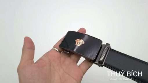 Dây lưng nam da pu cao cấp DHM-201   Mặt dây lưng khóa lăn nguyên khối thời trang