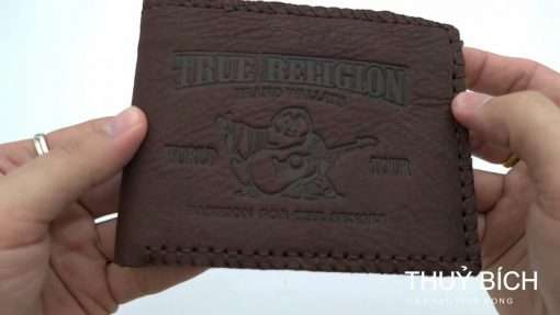 Ví nam ông địa TRUE RELIGION da bò khâu viền lạ mắt BNGR-636 tại Thuỷ Bích Vĩnh Long