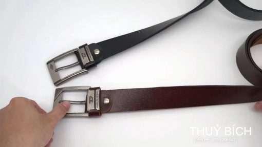 Thắt lưng da bò DHM-065   Mặt thắt lưng khóa kim nguyên khối mạnh mẽ