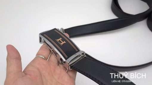 Thắt lưng nam giả da cao cấp DHM-225   Mặt thắt lưng khóa lăn nguyên khối sang trọng