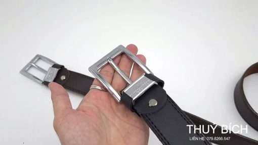 Thắt lưng nam da pu cao cấp DHM-227   Đầu khóa kim nguyên khối cao cấp