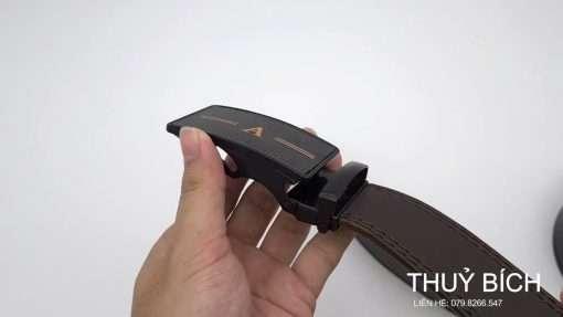 Dây lưng nam da pu cao cấp DHM-216   Mặt dây lưng khóa lăn nguyên khối thời trang